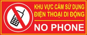 bảng cấm sử dụng điện thoại mica