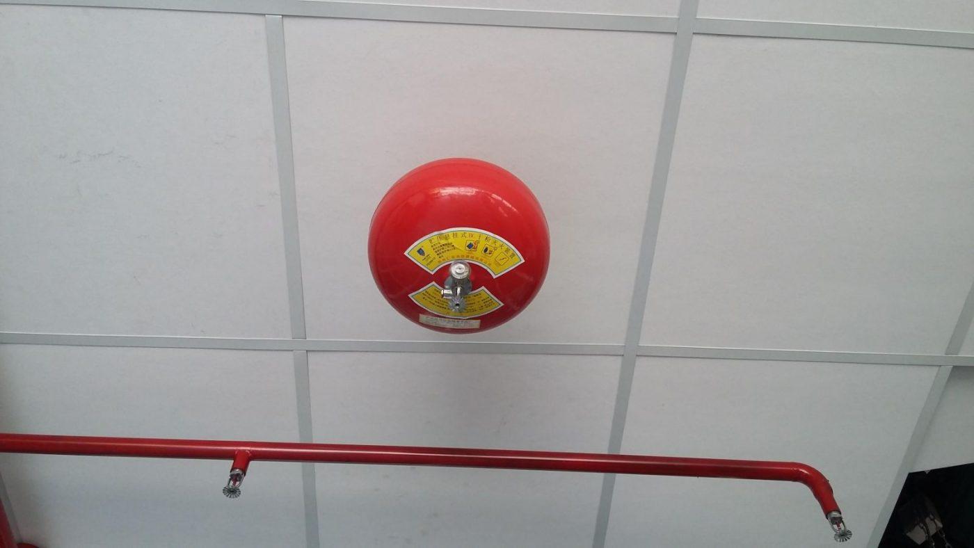 Lắp đặt quả cầu chữa cháy treo trên trần chữa tự động