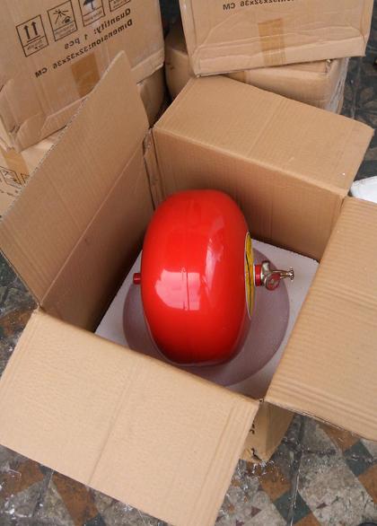 Quả cầu chữa cháy tự động 6kg bột BC XZFTB-6