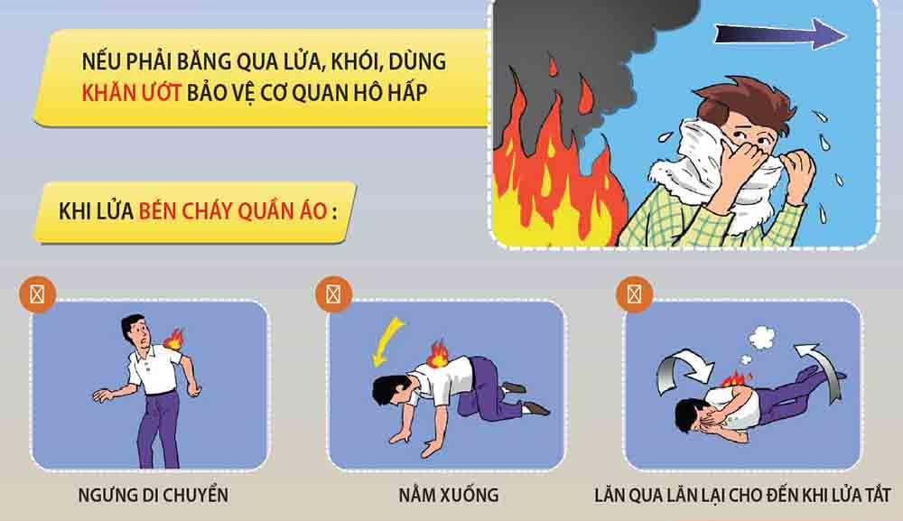 Cách xử lý khi quần áo bị cháy