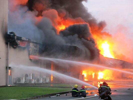 cháy xưởng sản xuất