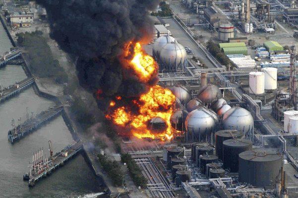cháy nhà máy sản xuất xăng dầu