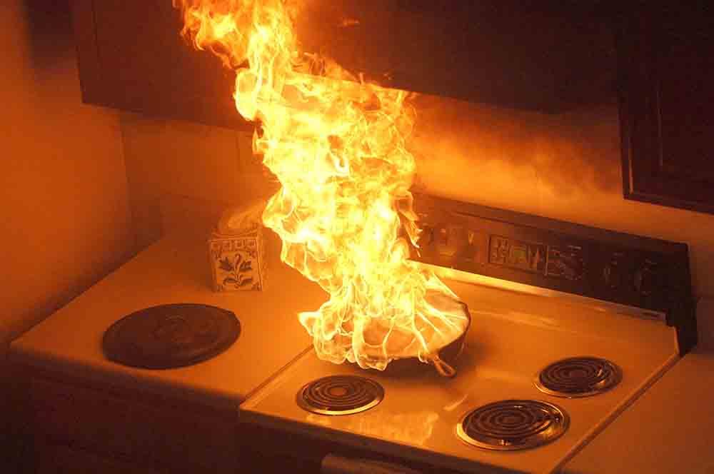 hỏa hoạn khi nấu ăn